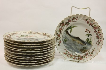 12 Porcelain Fish Set