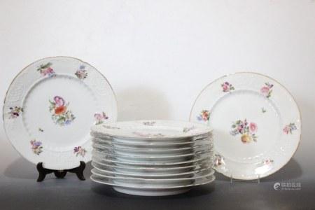 11 Pc. Porcelain Dinner Plates
