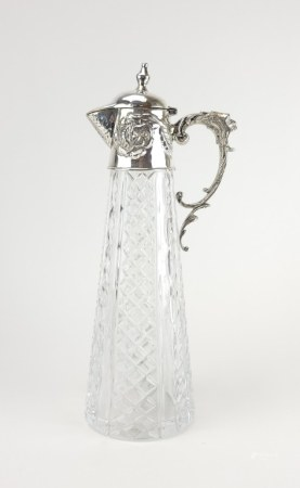 Antique Russian Silver Crystal Decanter