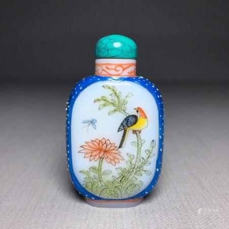 Chinese Liuli Snuff Bottle