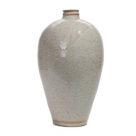 A CARVED QINGBAI MEIPING