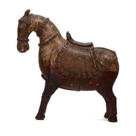 A WOOD HORSE