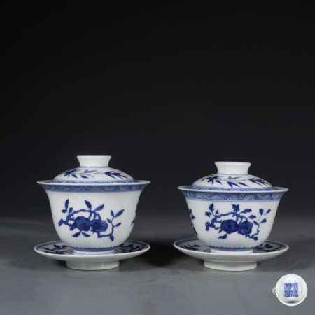 Chinese Blue And White Porcelain Tea Vessel