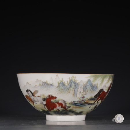 Chinese Pair Of Famille Rose Porcelain Bowls