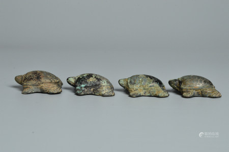 Chinese Set Of Bronze Turtle