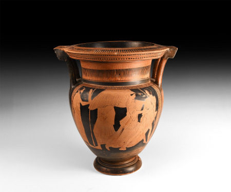 Attic Red-Figure Column Krater with Myth of Kephalos