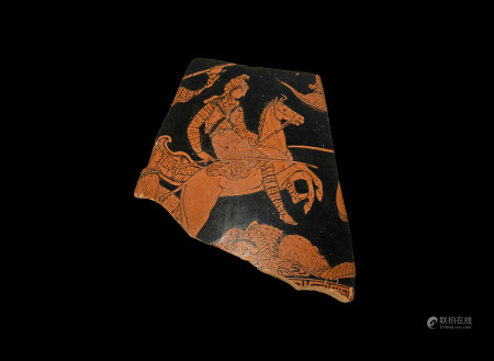 Krater Fragment with Amazon Fighting Scene