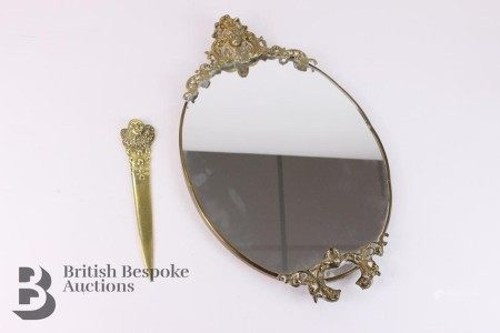 Small Mirror and Brass Mirror