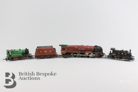 Three Hornby Tank Engines and Coal Cars