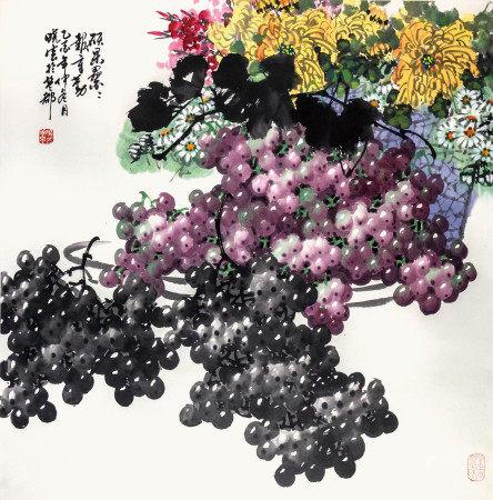 孫曉雲 葡萄菊花
