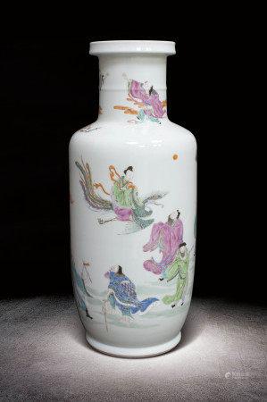 清 粉彩八仙圖瓶