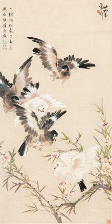 张书旂 花鸟