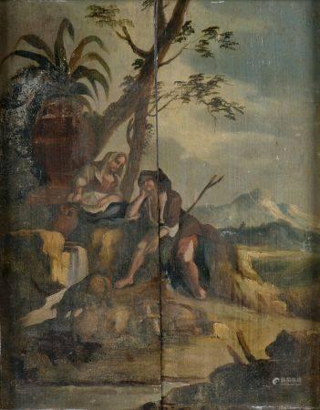 Ensemble de huit pièces encadrées telles que :  - P. CASSIERS (XXe siècle). Composition suréali