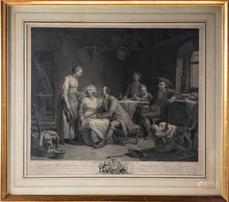 D'après Nicolas-Bernard Michel LEPICIE (1735-1784), gravé par Ch. BERVIC La demande acceptée  G