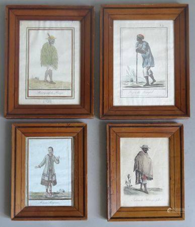 D'après J. GRASSET Saint SAUV - gravé par LAROQUE Personnages exotiques  Trois gravures en c