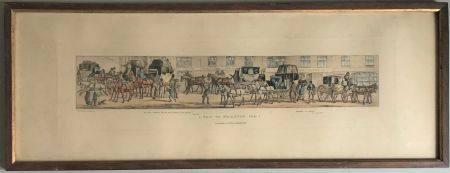 D'après John Dean PAUL  (1802-1868) - ECOLE ANGLAISE XIXe A trip to Brighton Gravure en coul