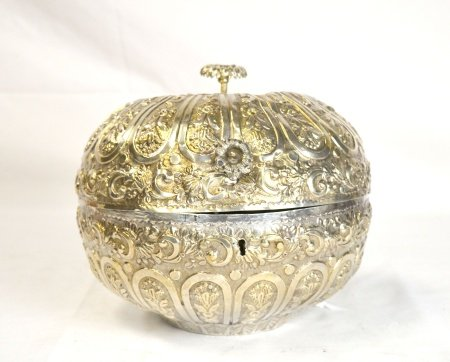 Good Antique Turkey Silver Box Marked