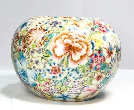Chinese Famille Rose Millefluer Jar
