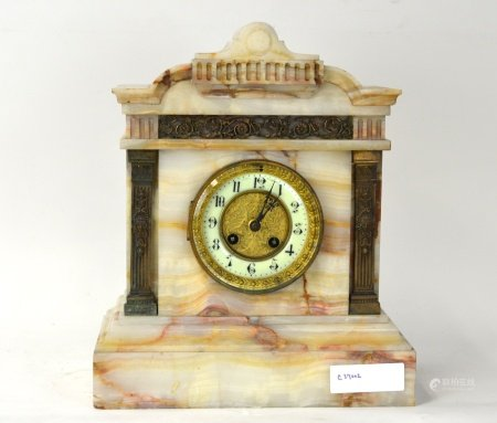 French Mental Clock with Onyx