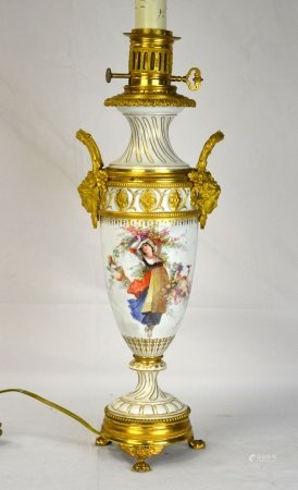 Dora Bronze Mounted Sevres Lamp