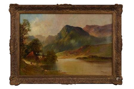H.Ramus 湖畔 油畫