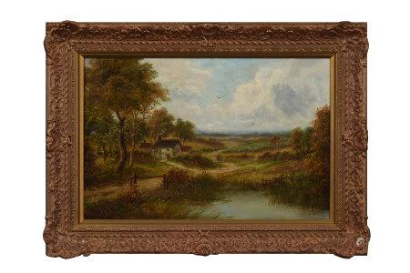 H.WINSTANLEY 河畔 油畫