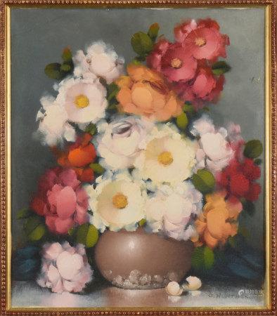 G.HUNTHER 花卉 油畫
