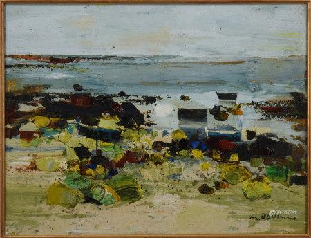 Michel Jouenne 海灘 油畫