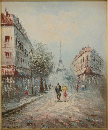 EDMON 巴黎街頭 油畫