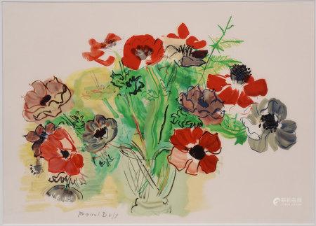 Raoul Dufy 銀蓮花 版畫