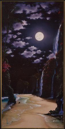 John Alhogue 魔幻月亮 版畫