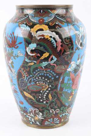 Cloisonne Vase, China 19. Jahrhundert, vase 19th century,Cloisonne Vase, China 19. Jah