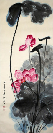 Chinese painting and calligraphy us 中国书画 荷花