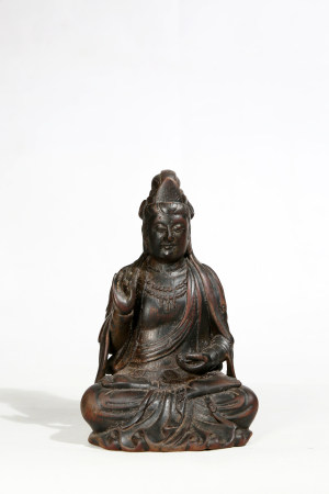 Carved Eaglewood Guanyin statue 沉香雕观音造像