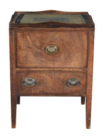A George III mahogany bedside night commode