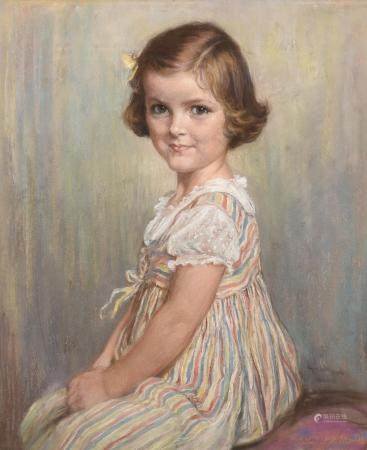 Charlotte Blakney Ward (British fl. 1898-1939), Portrait of Jennifer Jane Parker