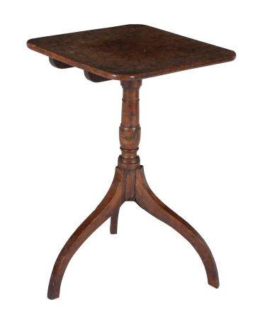 A George III burr yew and yew occasional table
