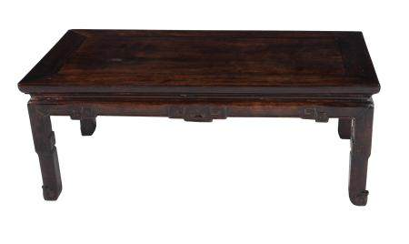 A Chinese hardwood Kang low table