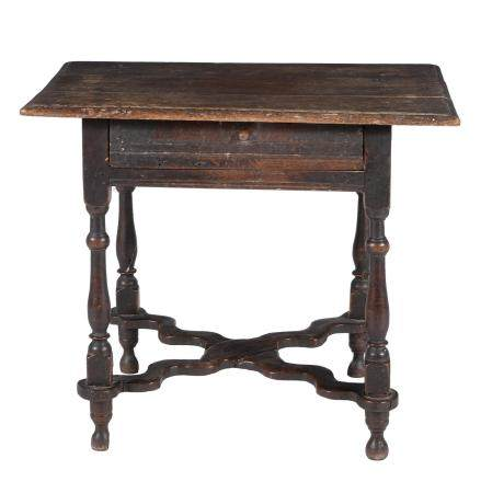 A Charles II oak side table