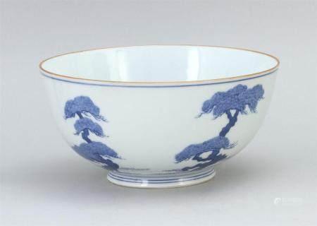 JAPANESE BLUE AND WHITE STUDIO PORCELAIN BOWL 20th Century
