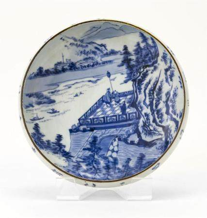 JAPANESE BLUE AND WHITE PORCELAIN BOWL Early 20th Century