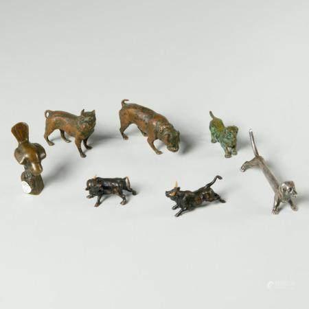Collection bronze miniature animals, incl. Vienna