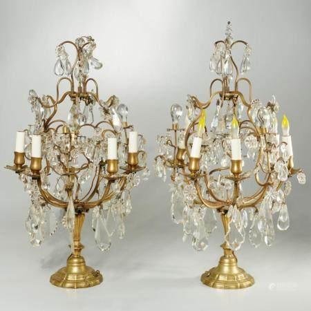 Pair antique Regence style girandoles
