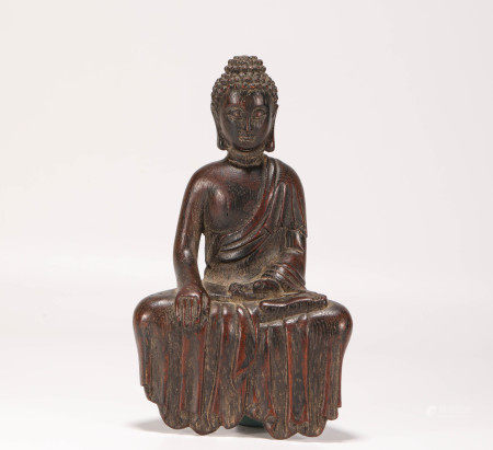 清代沉香木釋迦摩尼佛造像