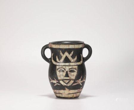 埃及石頭鑲嵌綠松石罐