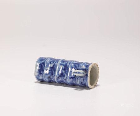 明代青花鳥食罐