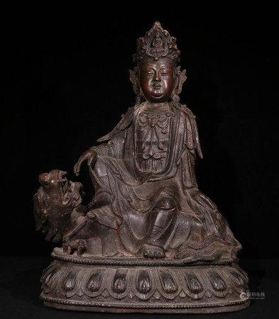 清代铜胎造像