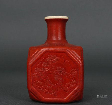 清代老匏器四方瓶