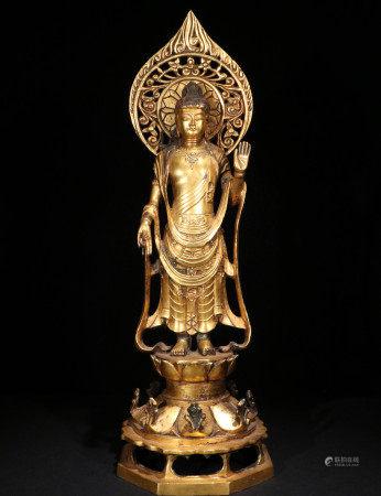 北魏铜鎏金造像