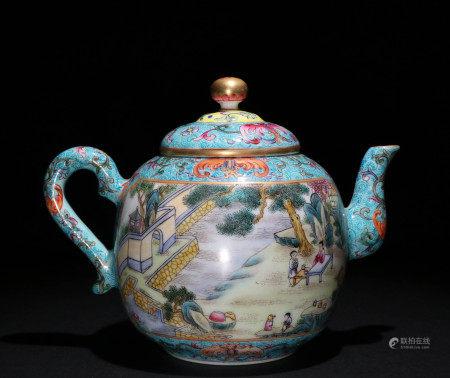 清代珐琅彩茶壶